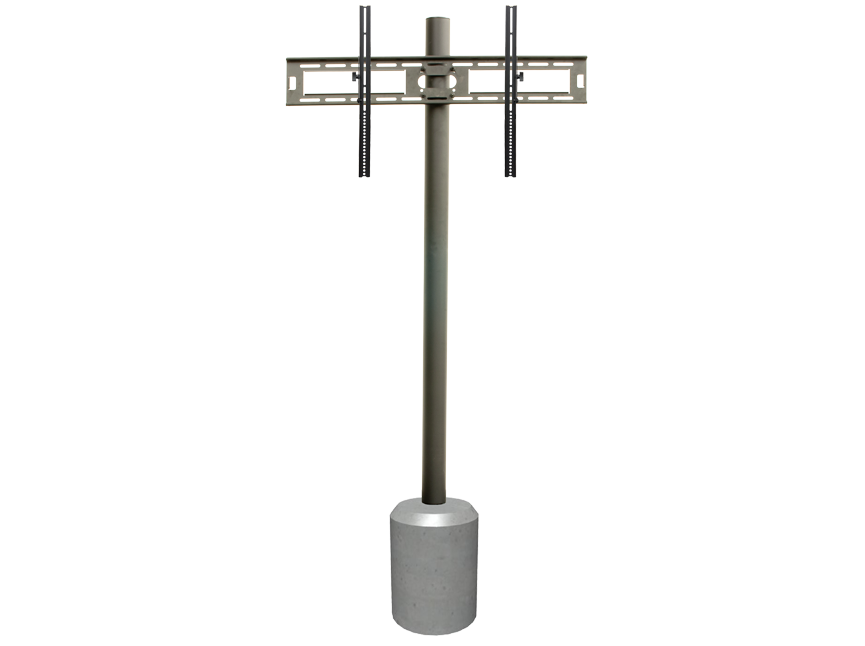 "65"" In-Ground Post with Swivel/Tilt Mount"