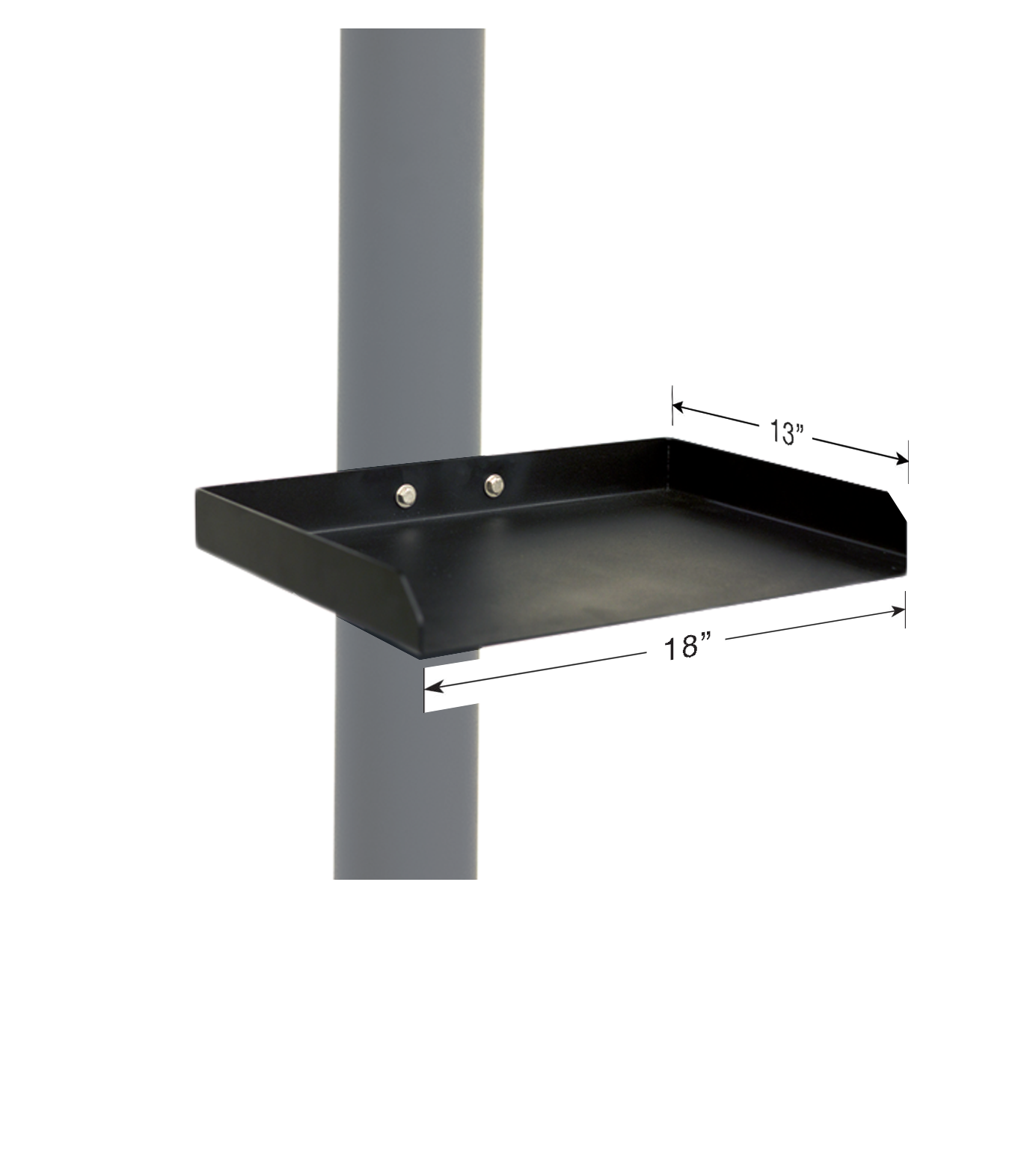 Deck post shelf