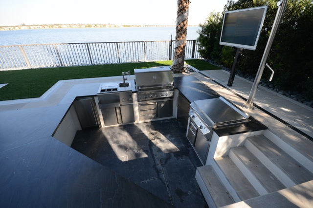 outdoor kitchen skyvue tv