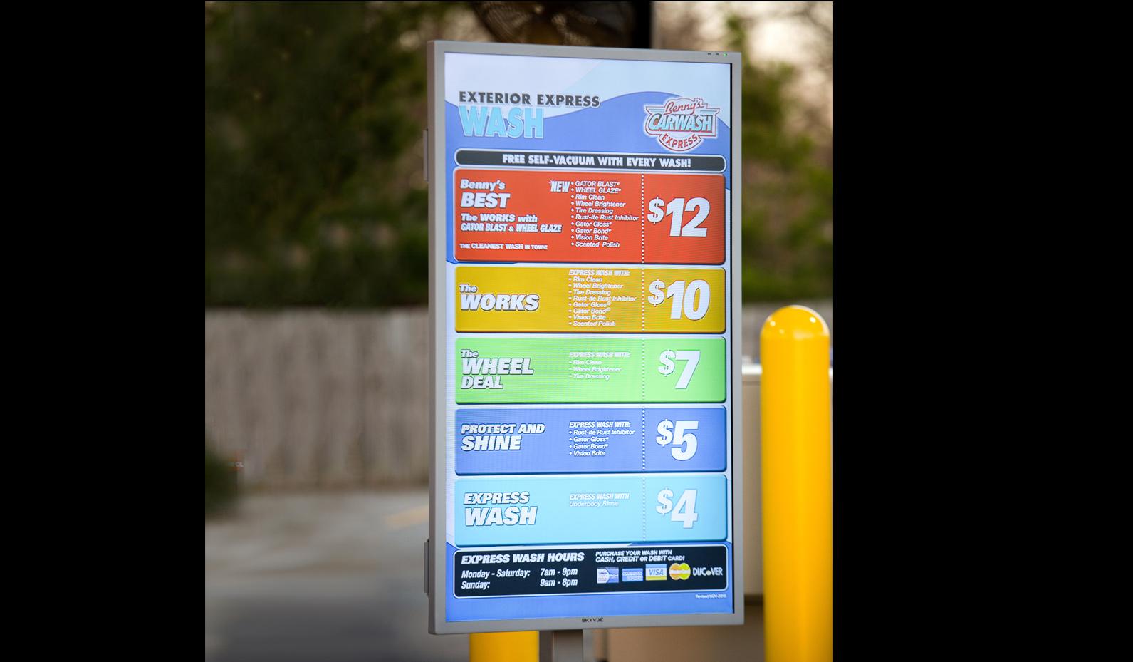 SkyVue OBX Portrait For Car Wash Signage