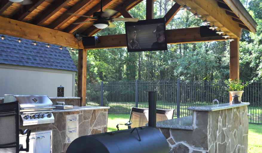 Perfect Addition To This Outdoor Kitchen