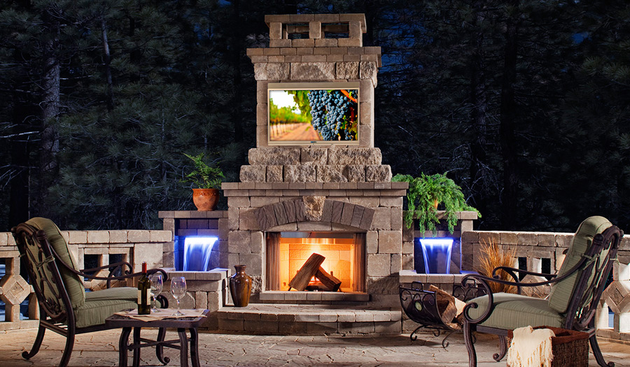 SkyVue Outdoor TV Fireside