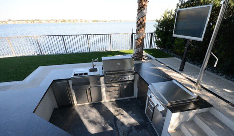 Perfect Outdoor Kitchen By The Water
