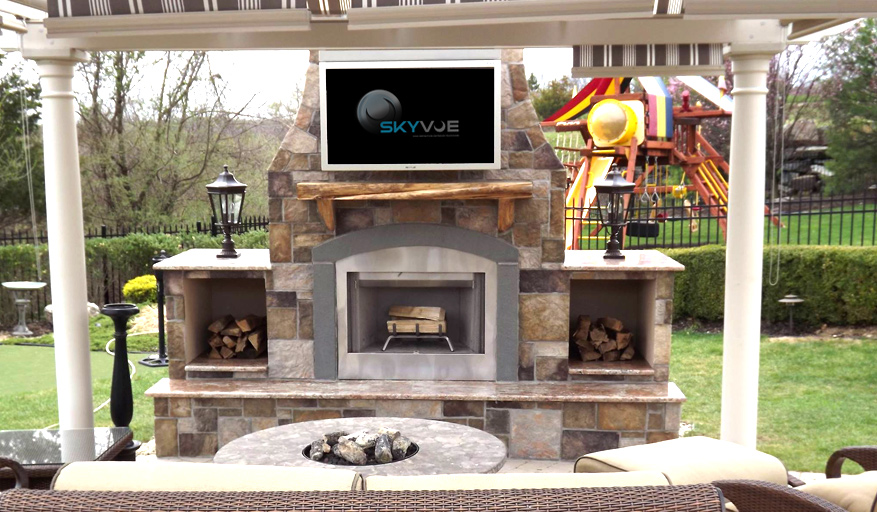 Gorgeous Outdoor Fireplace
