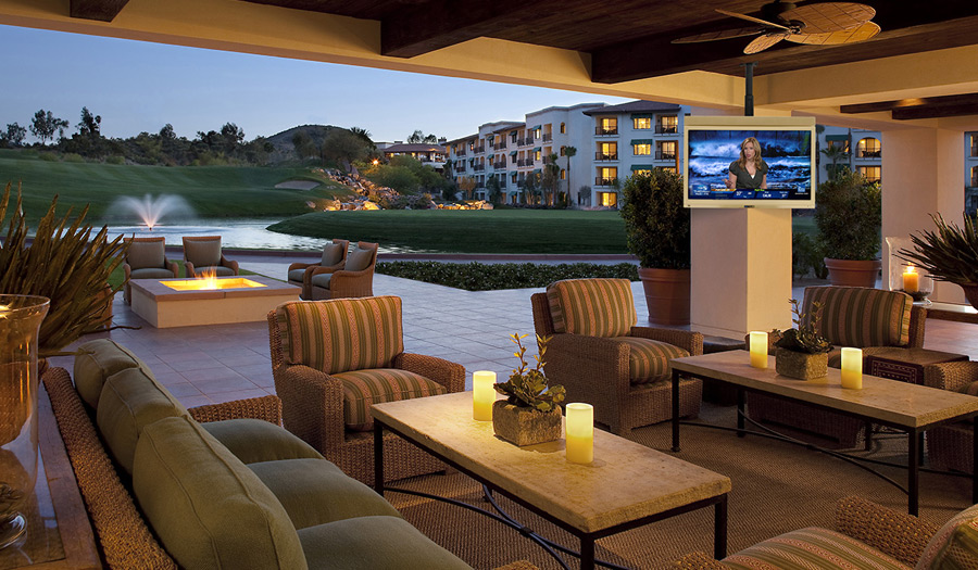 Tranquil Night At The Resort With SkyVue TV