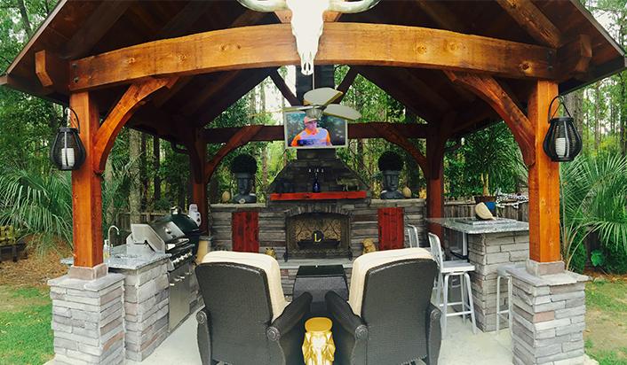 Beautiful Outdoor Kitchen In Aiken, SC